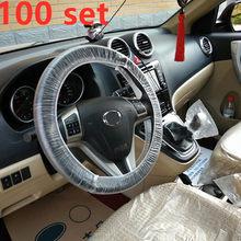3 шт./компл. одноразовый чехол на руль для автомобиля, пластиковый мягкий чехол для сиденья, водонепроницаемый чехол для автомобиля, аксессу...(Китай)
