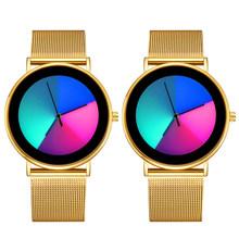 Креативные модные женские часы из нержавеющей стали, романтические, меняющие цвет, наручные часы, аналоговые, кварцевые часы, Montre Femme 2020(Китай)