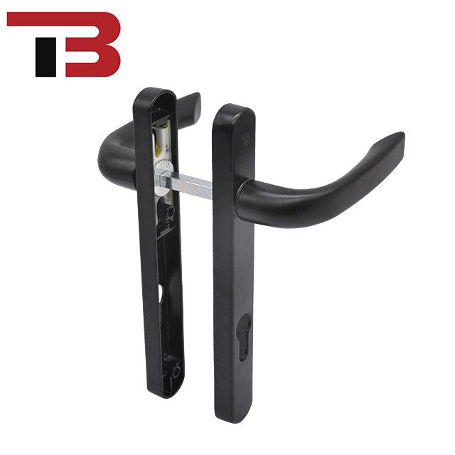 Aluminium Pintu Upvc Menangani Jendela Casement Handle Aluminium Dilapisi Bubuk Push Pull Handle Pintu