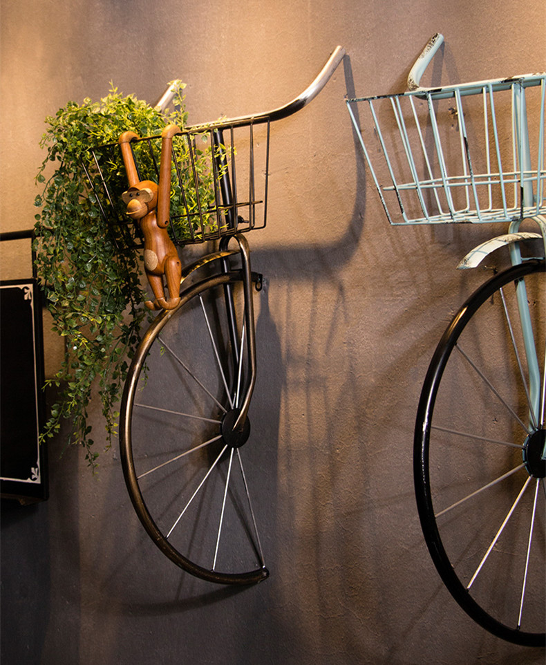 Industrial Vintage Pub and Post-modern Furnishing Style 3D Bicycle Wall Arts Decoration