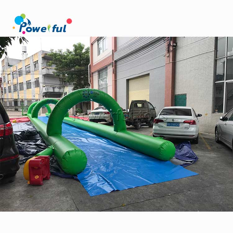 Customized outdoor pvc inflatable slip n water city slide