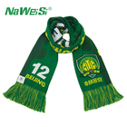Custom Spandex Printing Logo High Quality Cheap Knitted Competition Supporter Football Soccer Fan Scarf