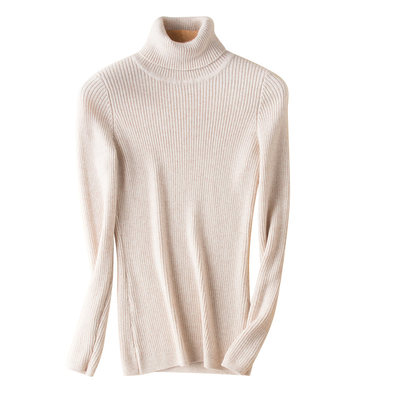 Turtleneck Cashmere blended Knitted Sweater for Woman 15Colors Woolen Pullovers Hot sale winter female Jumpers