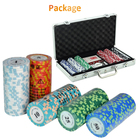 Poker Chip Set With Sustom Professional Casino Poker Chip 1000pcs Poker Set With Custom Logo
