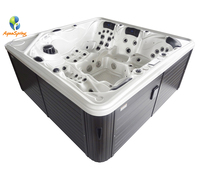 outdoor whirlpool rectangular spa 5 person spa hot tub