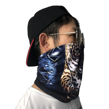 Hot Sale Soft Headwear Hair Bands Tiger Patterned High Elastic Face Cover Neck Scarves Outdoor Ski Bike Cycling Bandanas for Men