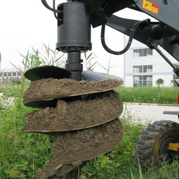 Efficient Earthwork Hydraulic Earth Auger Attachment