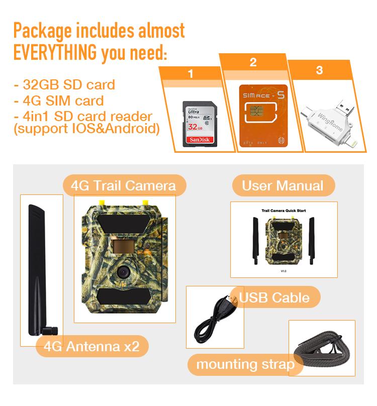 4G LTE APP Management Deer Hunting Wild Animal Trap Trail Camera