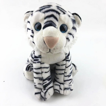 manufacturer direct hot selling fashion 25cm sitting white and black plush soft toy tiger