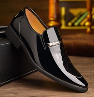 hb10070a 2020 Pointy patent leather business suit casual men's shoes wedding shoes
