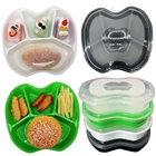 Freshness Preservation [ Plastic Container 4 ] Kyson Pp Plastic Food Packaging Storage Apple Shaped Togo Lunch Box Food Container Disposable 4 Compartment Bento Box