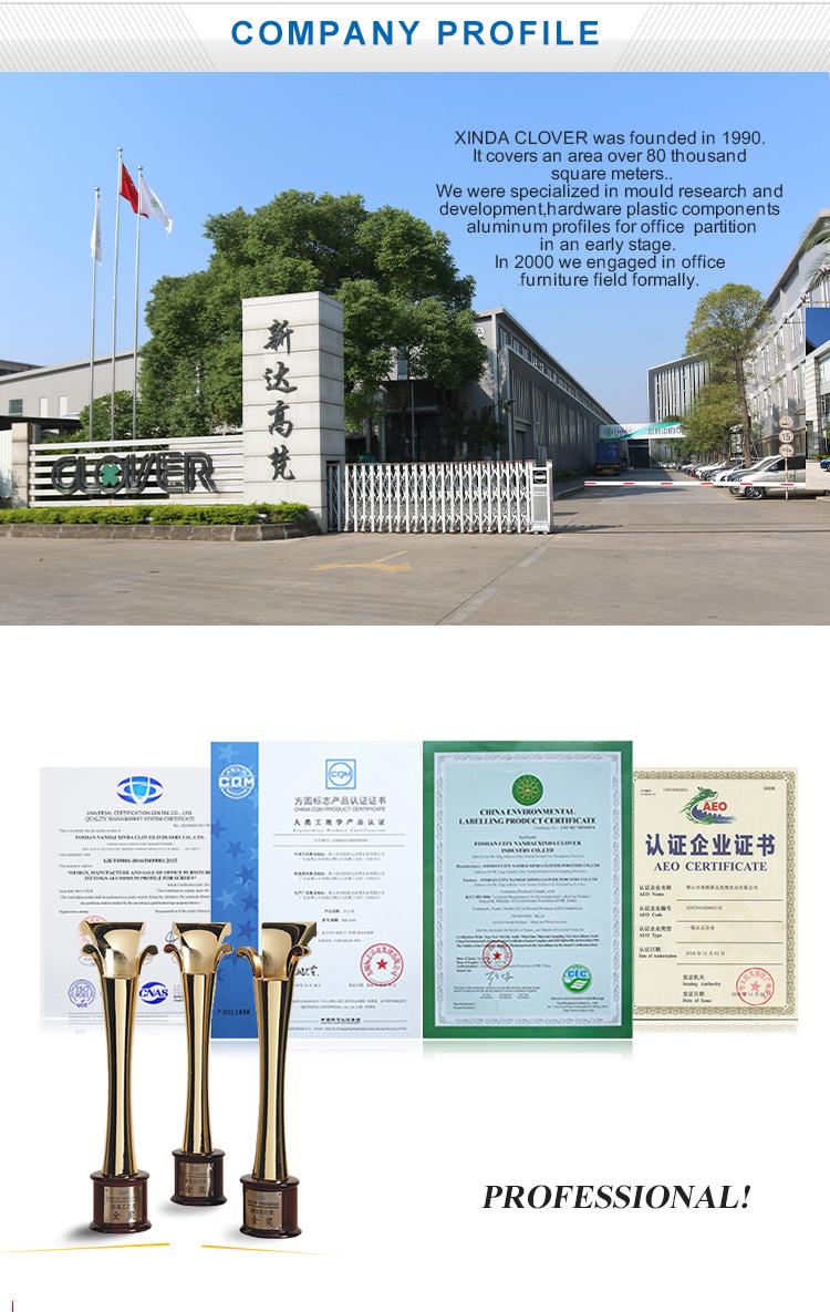 China top 10 ultra moderne import kantoormeubilair fabrikanten cluster office workstation voor 6 persoon