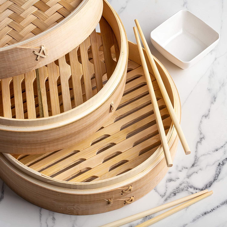 Оптовая продажа Горячая продажа Фабричный классический бамбуковый Пароварка традиционного дизайна