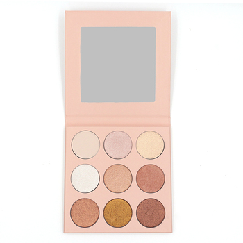 Free Sample Custom 9 Color Matte and shimmer Eyeshadow Makeup Palette Long Lasting Nude Eye Shadow