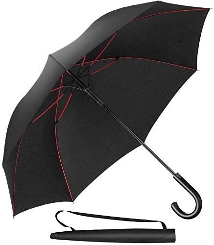 Classic 25 X 8K Windproof Hook Handle Hanging Straight Umbrella