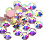 3d Nail Arts New Decorations Perfect Cutting Surface Mix Size Coloyrful Crystal Glass Round 3D Nail Arts Rhinestones