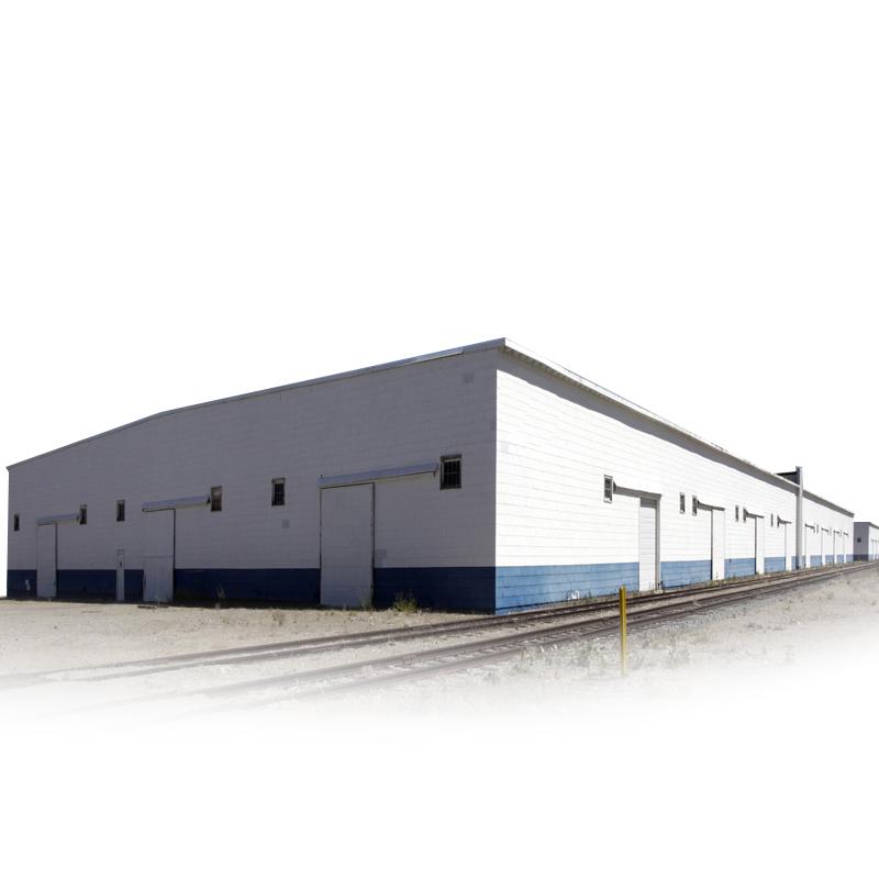 Low Cost Factory Workshop Steel Building Prefabricated Steel Warehouse with Crane Beam