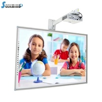 100 inch kids top large intelligent glass electronic multi touch smart class projection touch display white board digital