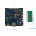 HDMI to MIPI DSI driver board 3.4 inch 800x800 round circular TFT lcd display panel Idustries