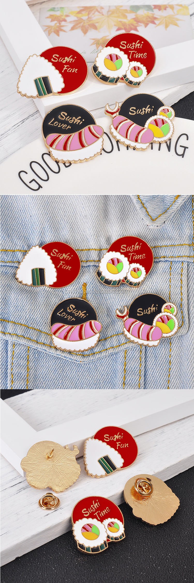 Cheap custom funny soft enamel lapel pins with butterfly clasp