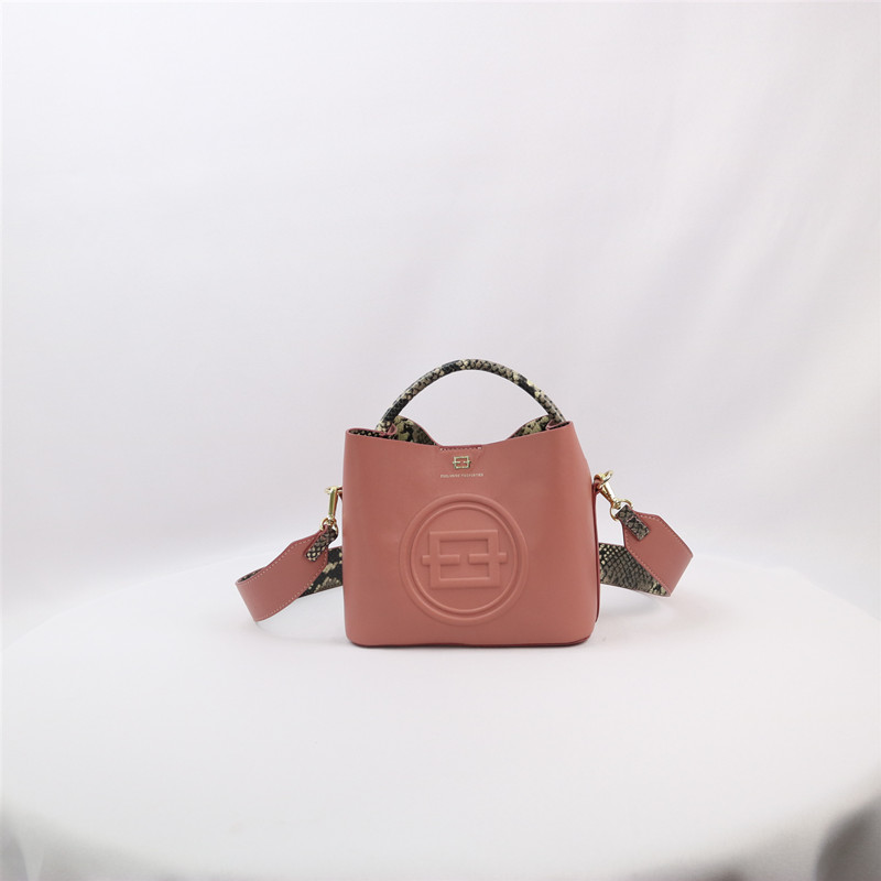 2020 high quality  sheepskin leather private label manufacturer big logo leather sling pocket  shoulder handbag
