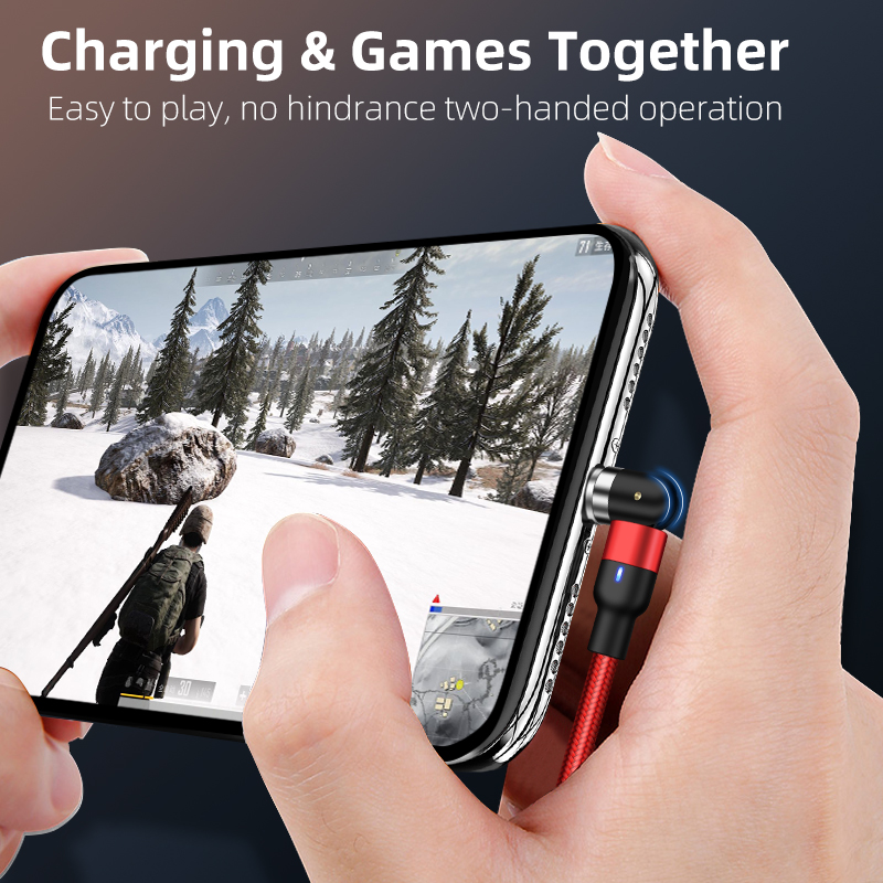 2020 new on stock wholesale 3 in1 magnetic fast charging cable 540 degree free rotation micro usb cable cell phone data cable
