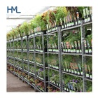 Outdoor garden center logistics transport pot display danish flower plant nursery rack trolley
