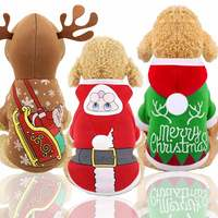 Christmas elk changing into dog festival clothes cat pet autumn winter new medium dog Teddy pull sled