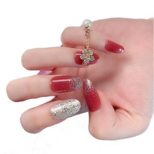 28 Pcs Red Bean Paste False Nail New style For Young Girl Fingernails