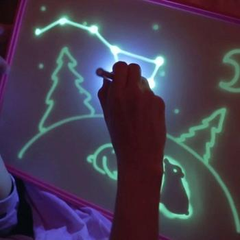 kids electronic glow magic 3D writing led drawing board with multi flash