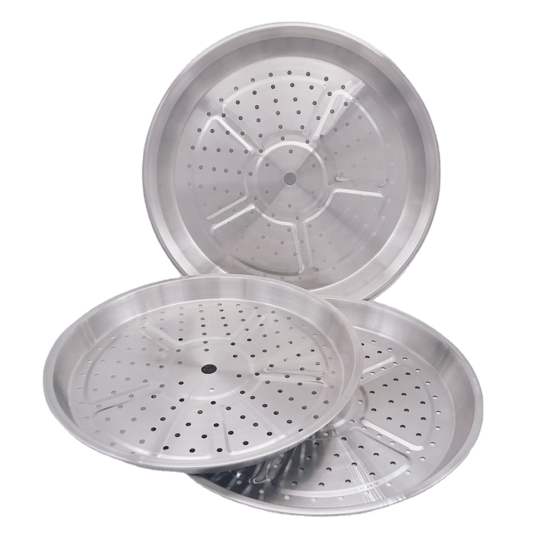 34cm Food grade high quality hot sale promotion pan steamed slice food container