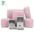 Luxury Baby Pink Velvet Jewelry Set Display Gift Box