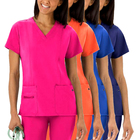 High Quality Hospital Uniforms Sets Short sleeve jogger Figs Designer Custom Nurse Scrubs uniform With Logo