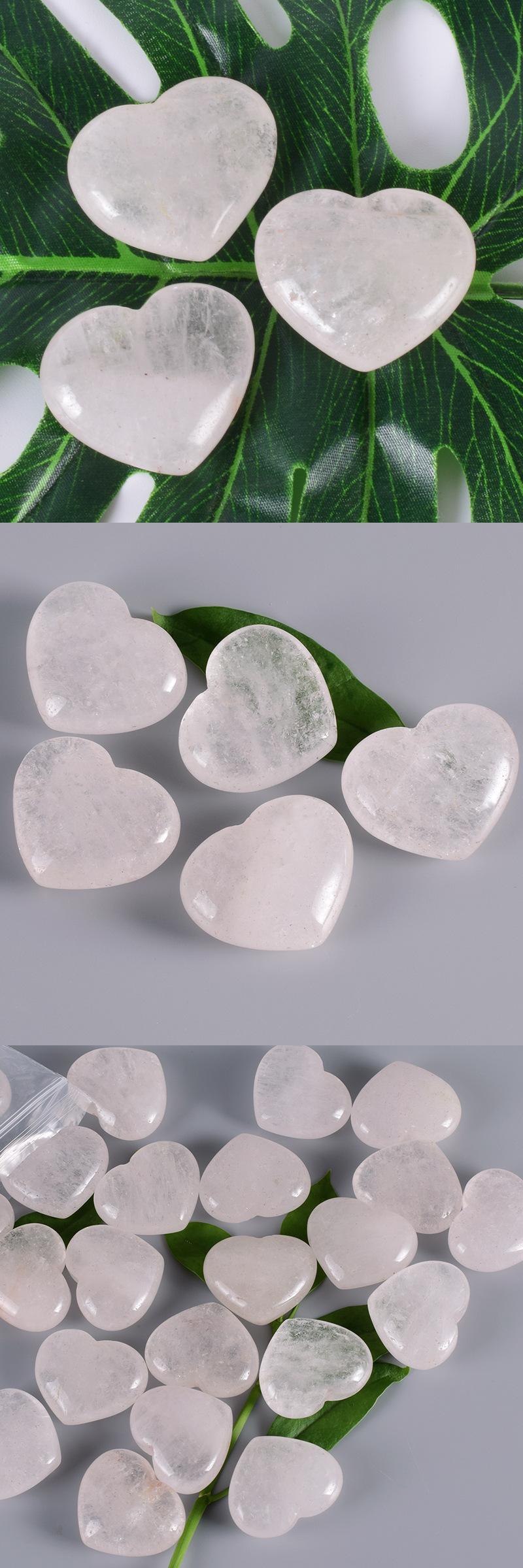 Valentine souvenirs large rose quartz heart clear pendatn