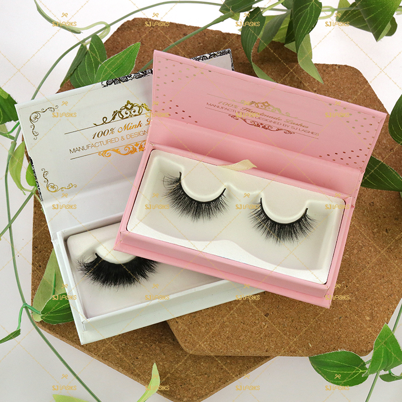 Own Logo Branding Eyelash Eco-Friendly Package Box Sugarcane Biodegradable Lash Packaging Box For 5D Faux Mink Lash Hair