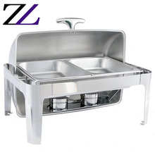 Kichens voedsel warmer voor restaurants catering <span class=keywords><strong>materiaal</strong></span> en apparatuur roll top buffet server komfoor rvs chafer