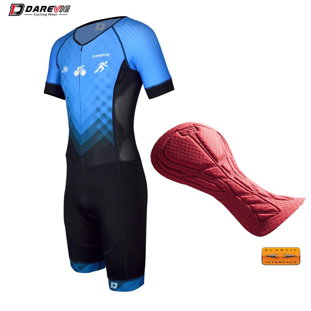 Kustom Bersepeda Memakai Bersepeda Profesional Skinsuit/Tri Suit Profesional Cepat Kering/Tinggi Elastisitas Bersepeda Triathlon