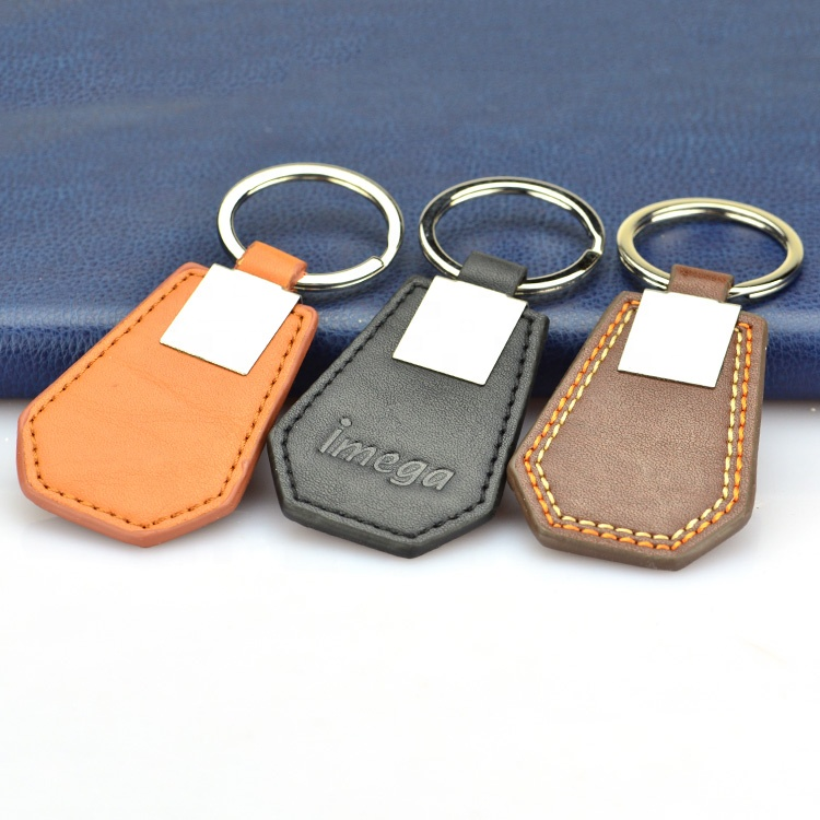 Leather key fob manufacturers black leather keyholder key holder ring for car