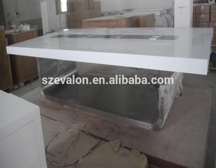 Factory Supplier Good Fame High Gloss Popular  Modern Design corians stone  meeting room Conference Table