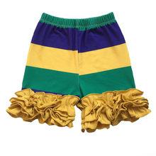 Mardi Gras/праздничная одежда для маленьких девочек фиолетового, зеленого и золотого цветов; леггинсы(Китай)