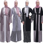Muslim Ramadan Dress Cardigan Arab Outside Hot Style Loose Version Women's Wear Turkish Abaya Wholesale