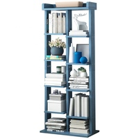 9 Tier Low Bookcase Bookshelf,Wooden Shelving Display Storage Unit Office Living Room Furniture