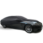 High Quality Scratchproof Anti-dust Black Lycra Surface Stretchable Car Cover Indoor With Soft Fleece