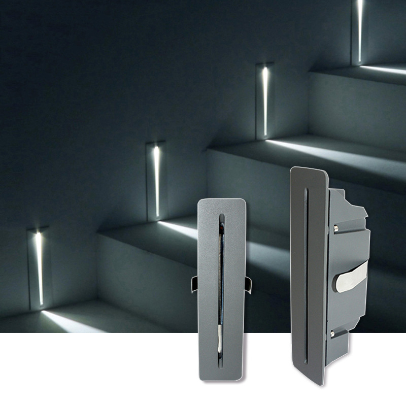 Современный наружный квадратный встраиваемый ножной светодиодный лестничный ступенчатый настенный светильник