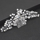 Princess Pearl Head Comb Hair Clip Baroque Bridal Wedding Rhinestone Hair Comb Pearl Hair Accessories Fashion Handmade Headwear