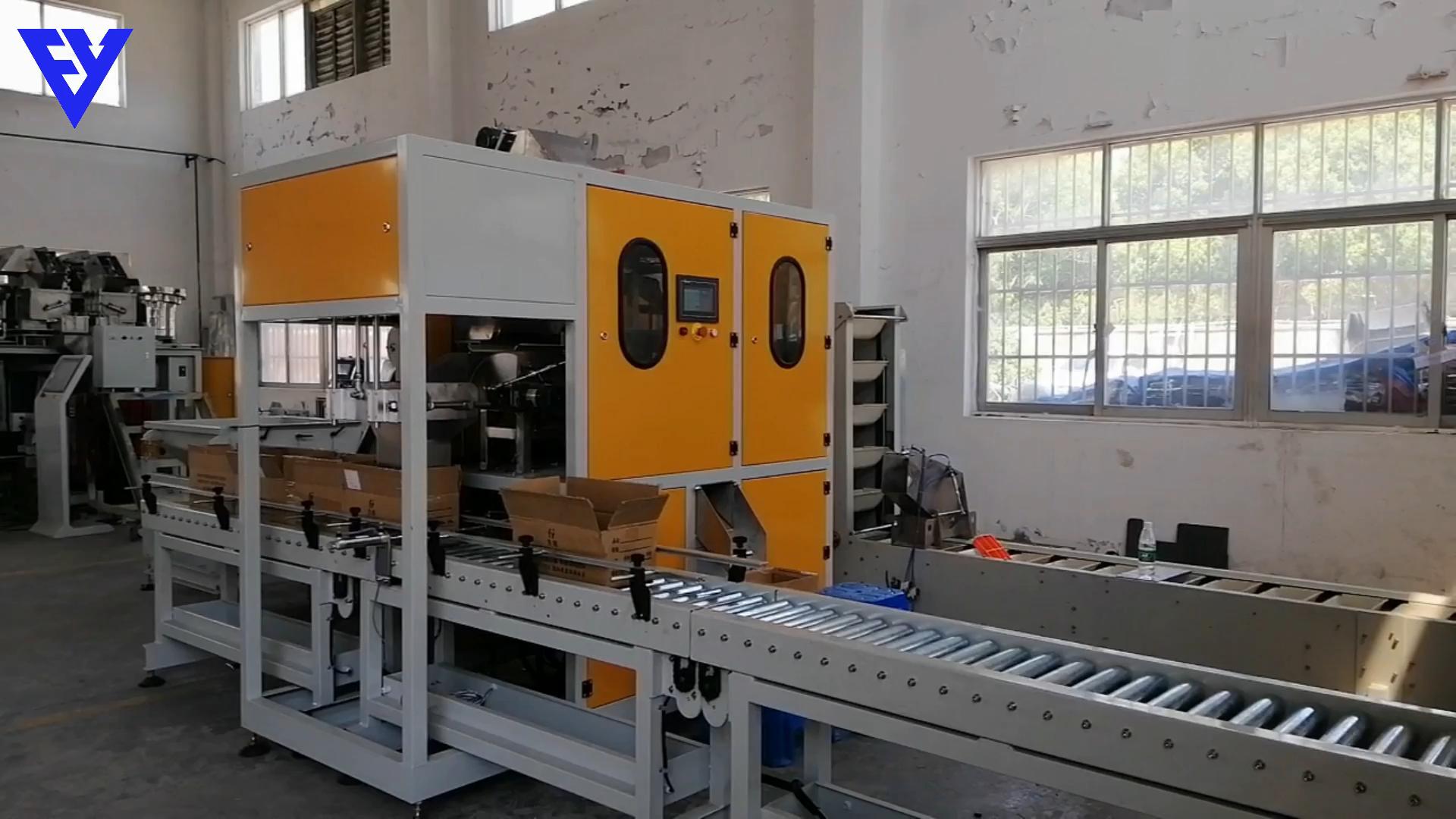 Nuevo diseño de tornillo de la máquina de embalaje con caja de cartón