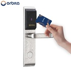 Orbita fashion smart rfid hotel lock system, rf card electronic door handle lock, smart hotel door lock system price