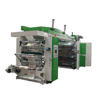 Hot high speed small size central drum type Changhong six color flexography printing machine with chamber doctor blade (CE)