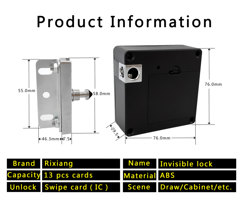 Invisible RFID Cabinet Lock Hidden Lock For Drawer/ Locker /Cabinet