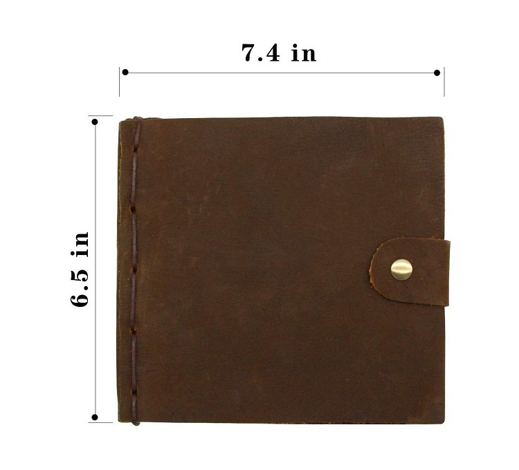 Guangzhou supplier classical hand made notebooks travel journals online promotional laser or debossed LOGO handmade journals